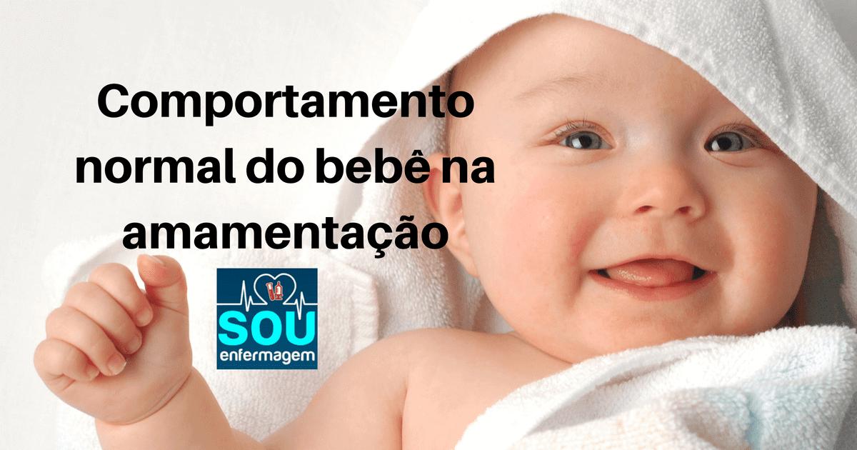 Comportamento normal do bebê na amamentação