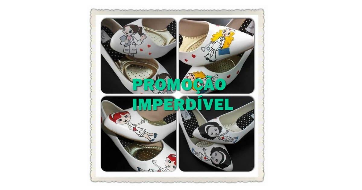 Promoção  de Sapatos Personalizados Linha Saúde