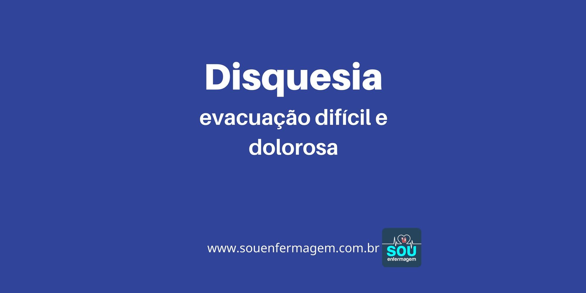 Disquesia