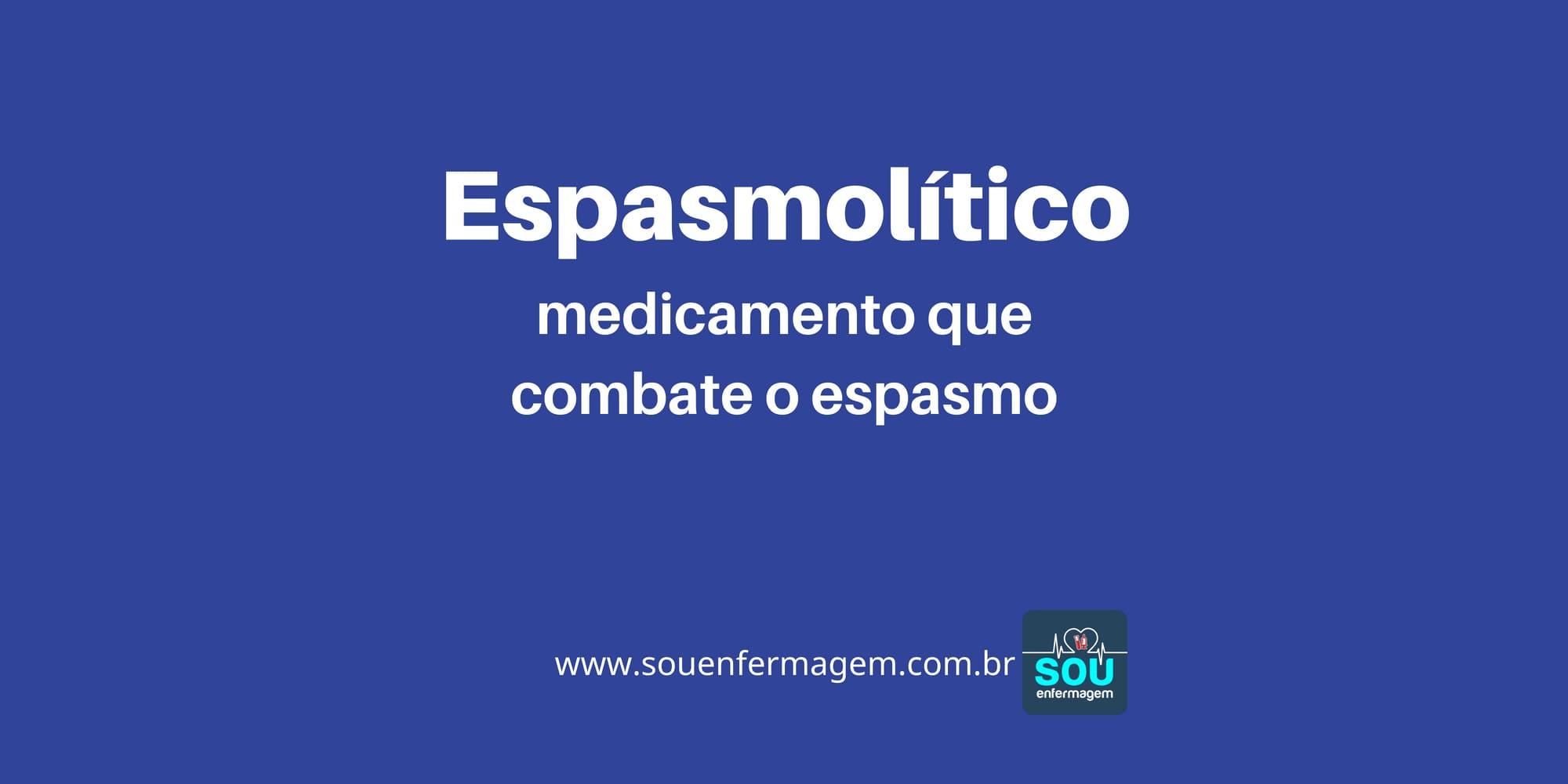 Espasmolítico