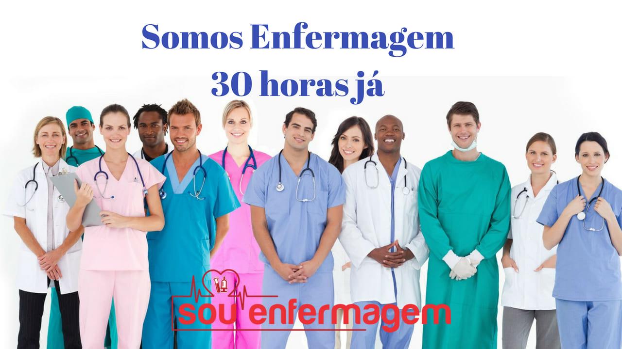 30 horas semanais para a enfermagem