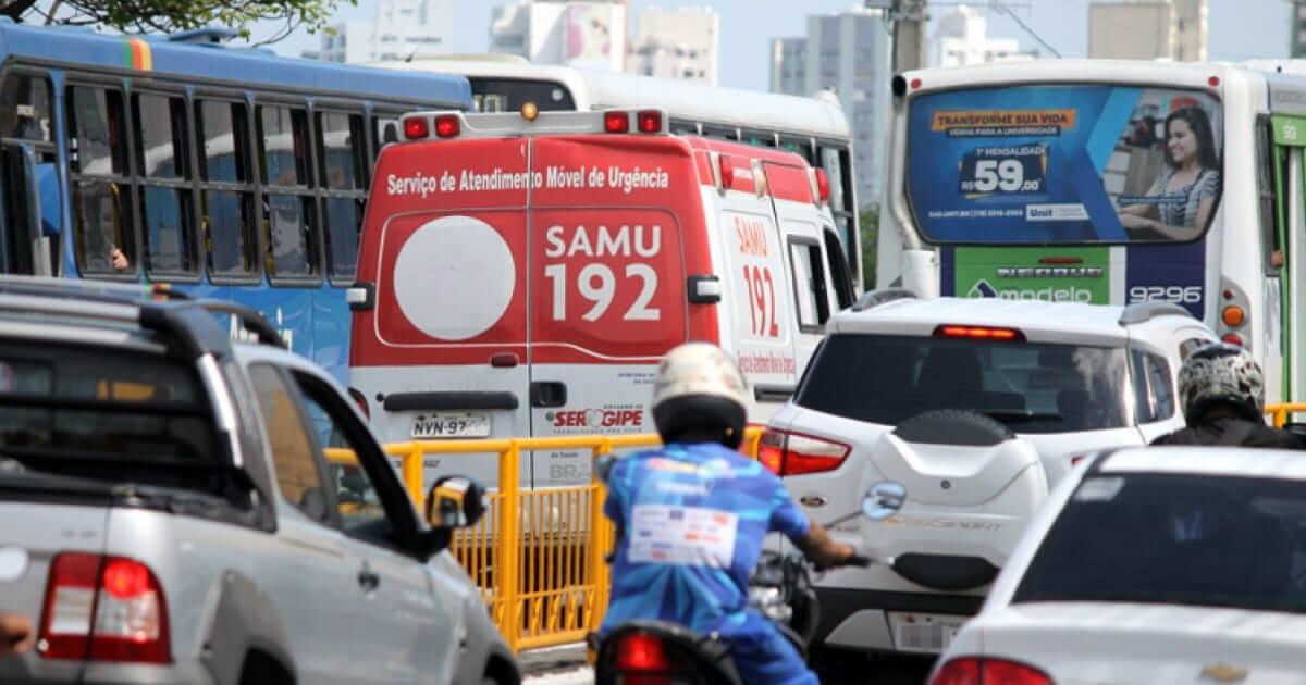 O barulho da sirene de ambulância no trânsito incomoda muita gente