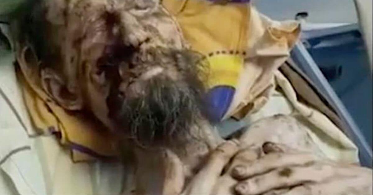 Vídeo do homem que é resgatado após ser mantido refém de urso na caverna é fake news?