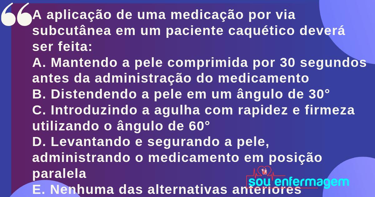 Questões Comentadas de Enfermagem #0001
