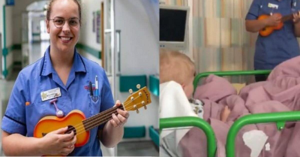 Enfermeira canta e encanta crianças com câncer em hospital