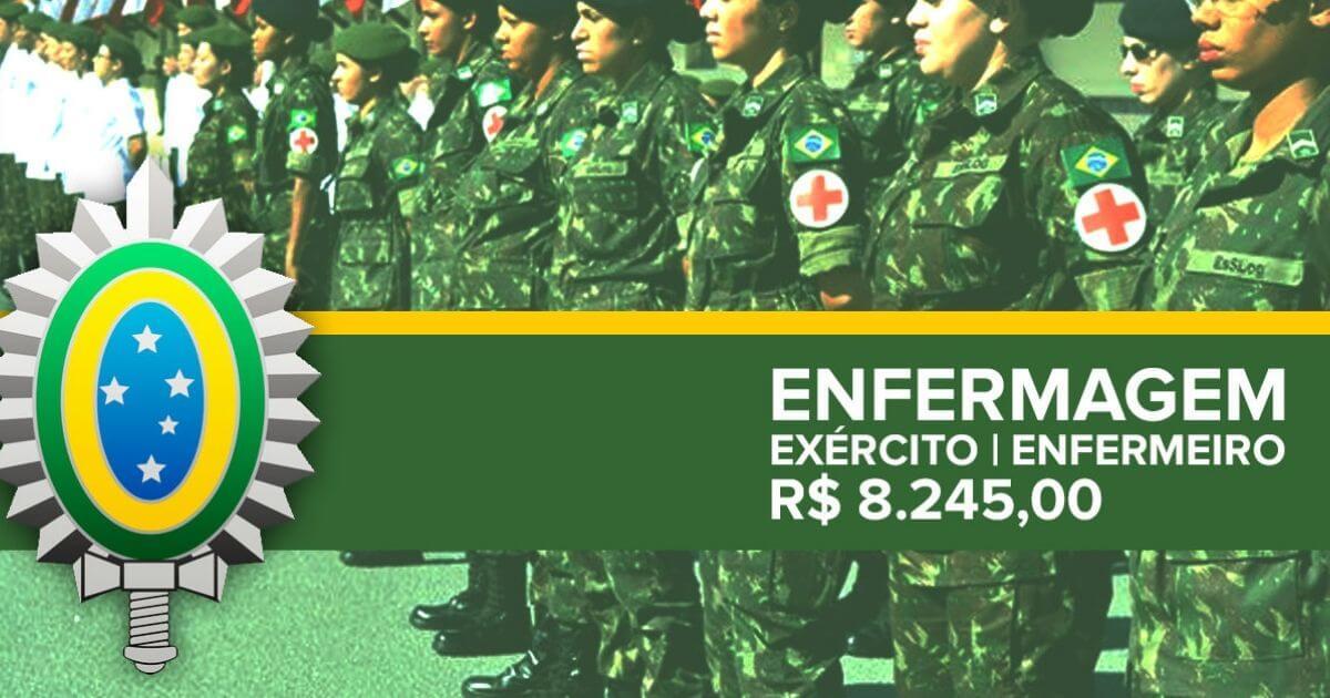 Exército abre concurso para Enfermeiro com vencimento de R$ 8.245,00