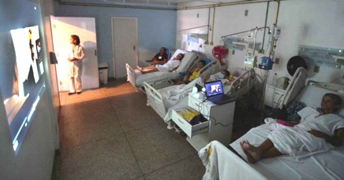 Projeto Cinema no Hospital melhora a vida de pacientes com câncer no Estado do Maranhão
