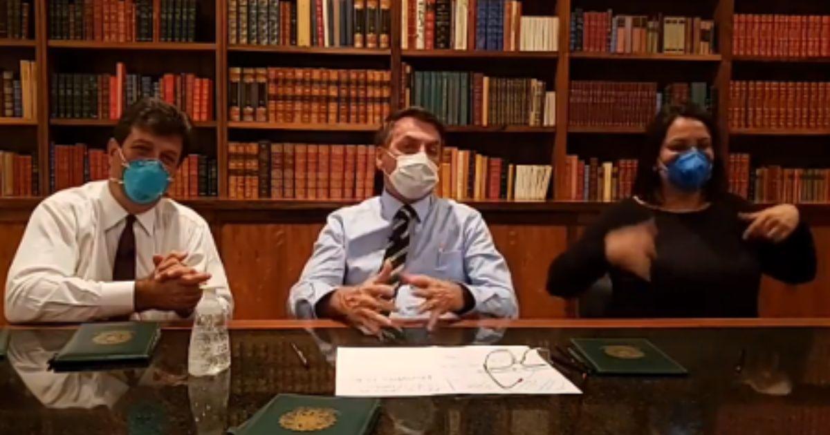 Bolsonaro disse em sua live que amanhã assina MP que libera R$ 5 bi para a Saúde