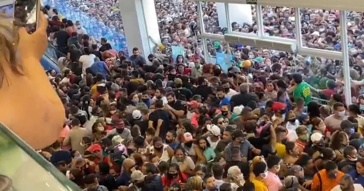 Inauguração da loja Havan em Belém no Pará provocou aglomeração