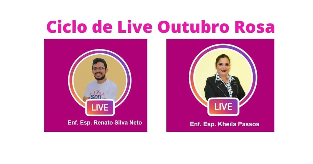 Ciclo de Live Outubro Rosa com certificado de participação 2020