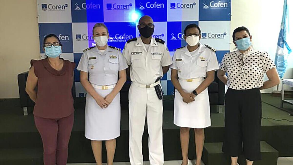 Coren-MA recebe Comissão Nacional de Profissionais de Enfermagem Militares do Cofen