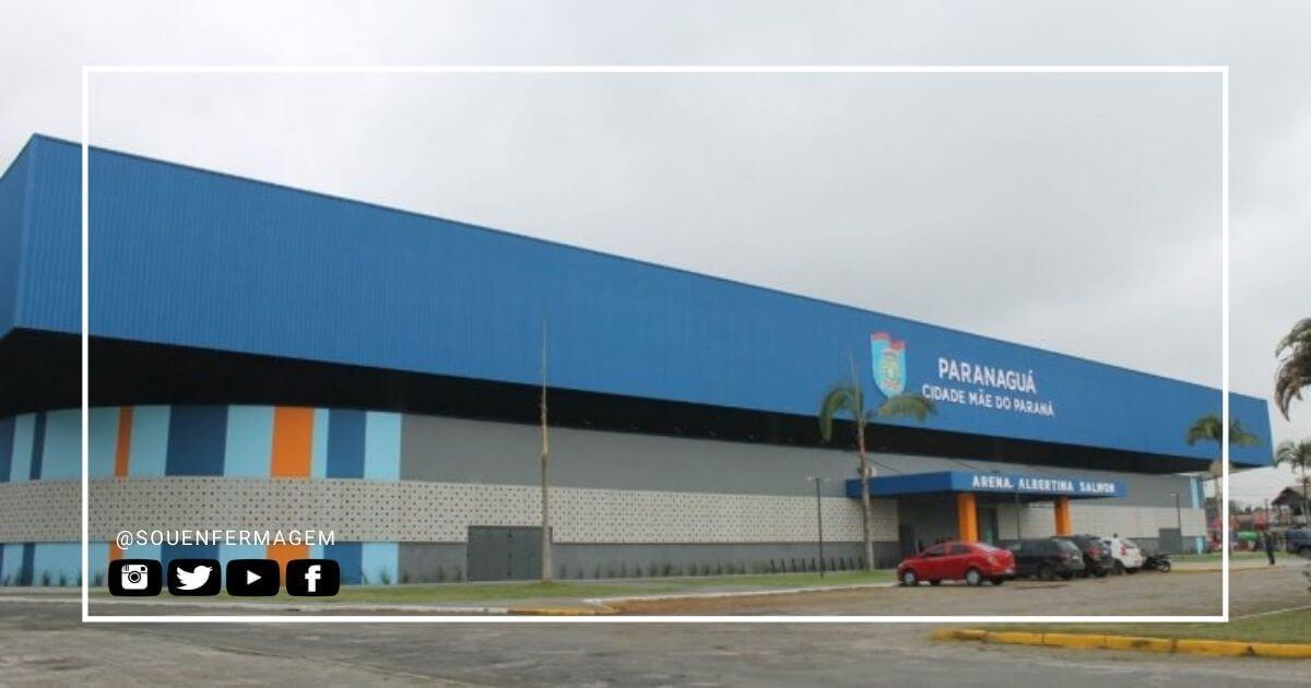 Arena Albertina Salmon em Paranaguá atende os casos de Covid-19