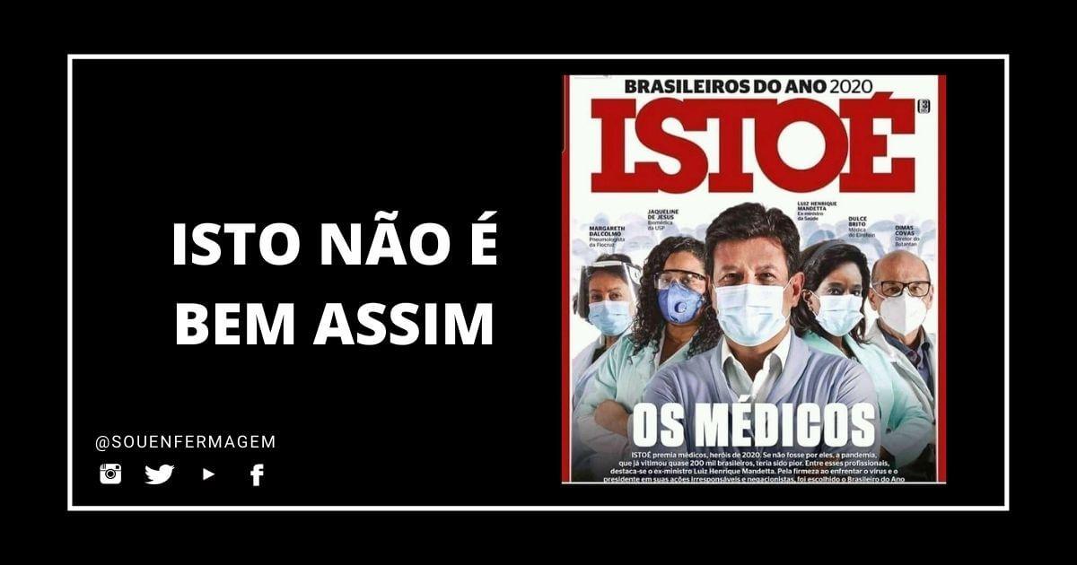 Revista ISTOÉ ignora trabalho da enfermagem no combate à pandemia